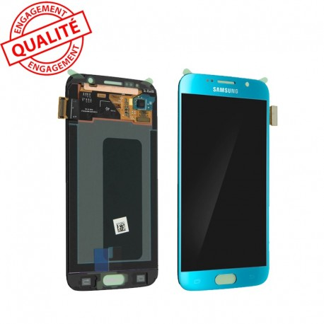 Ecran LCD Samsung Galaxy s6 SM-g920F Couleur Bleu ciel GH97-17260d