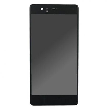 Ecran lcd Huawei P9 sur chassis noir sans logo