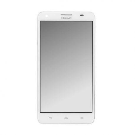 Ecran lcd Huawei Honor 3X sur chassis blanc