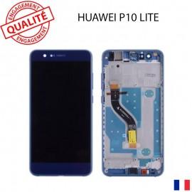 Lcd huawei P10 lite bleu - assemblé sur châssis