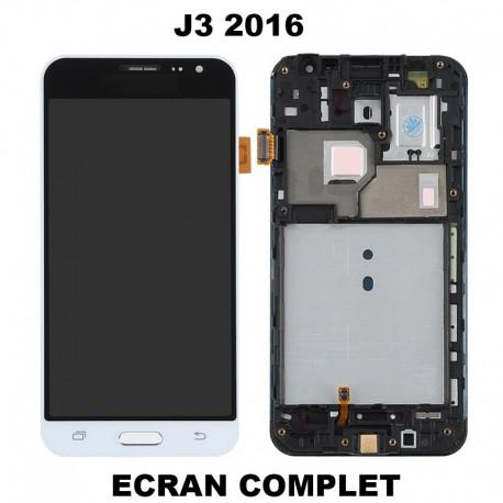Ecran lcd J3 2016 Complet - BLANC