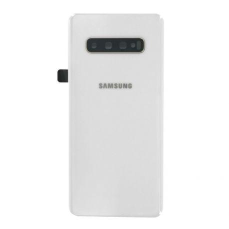 Vitre arrière Samsung Galaxy S10 Plus G975F ceramic blanc