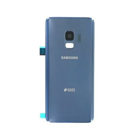 Vitre arrière Samsung Galaxy S9 Duos G960F/DS bleu